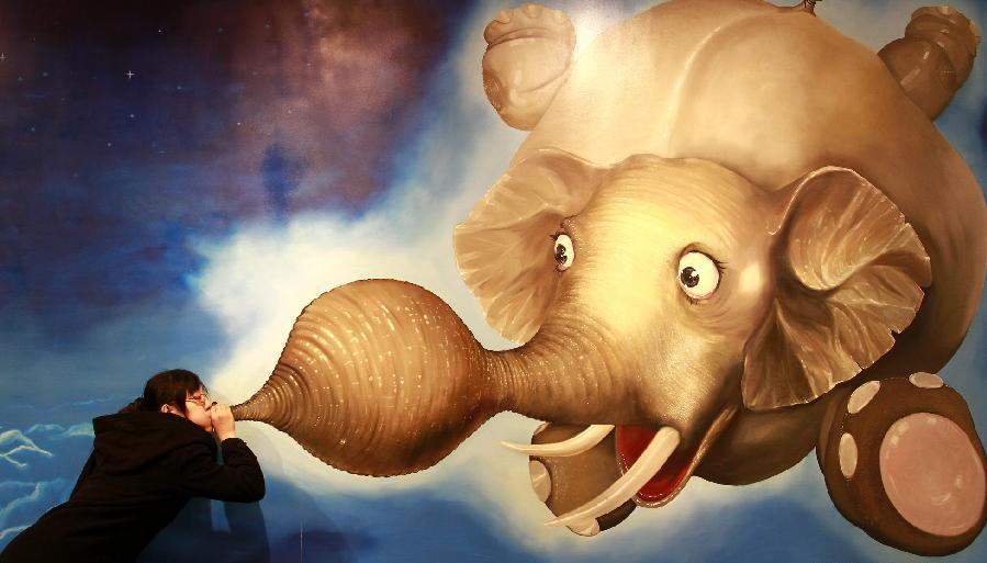 elephant 45 Stunning 3D Paintings for Decoration