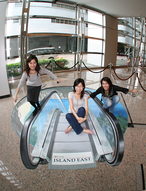 escalator 45 Stunning 3D Paintings for Decoration
