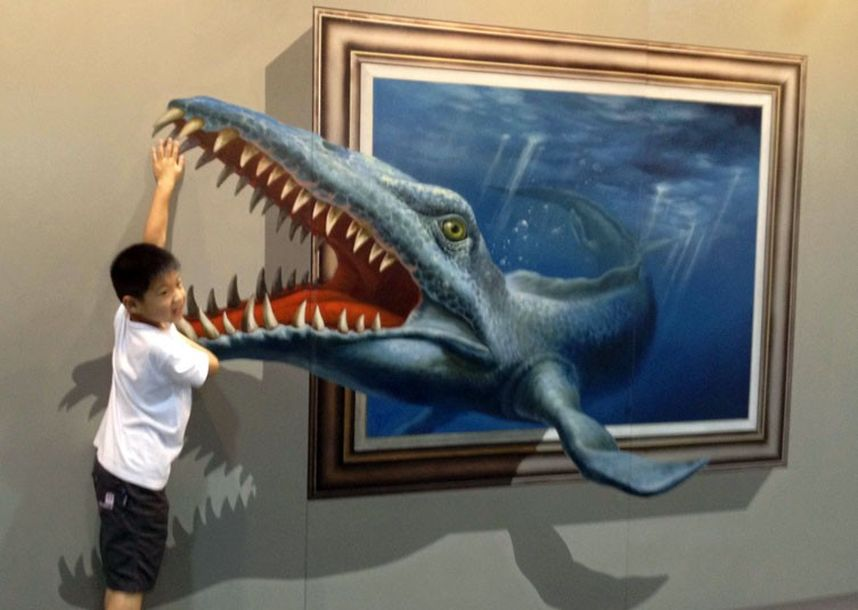 exhibition15 45 Stunning 3D Paintings for Decoration