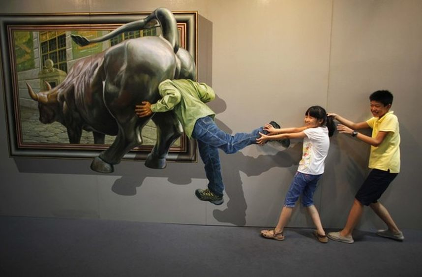 exhibition25 45 Stunning 3D Paintings for Decoration