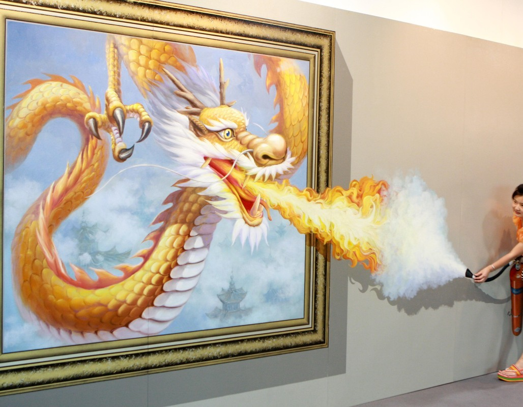 extinguishing-fire 45 Stunning 3D Paintings for Decoration