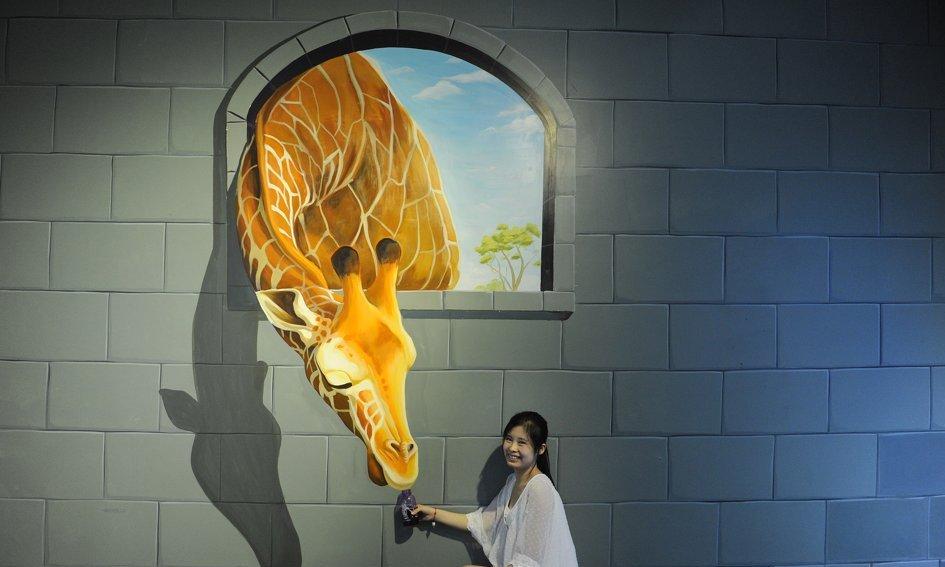 giraffe 45 Stunning 3D Paintings for Decoration
