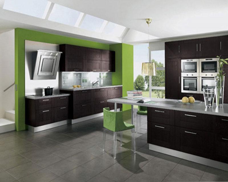 green-brown-kitchen-ideas 15 Creative Kitchen Designs
