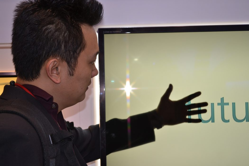 haier. Do You Believe You Can See Through This Transparent TV Screen?
