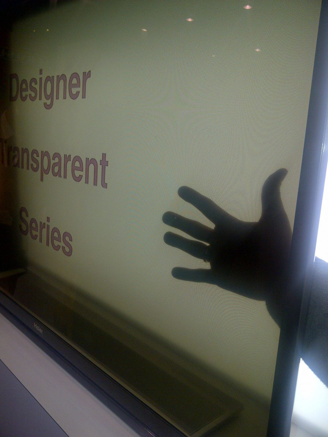 haier Do You Believe You Can See Through This Transparent TV Screen?