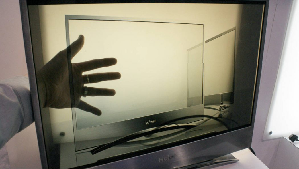 haier_tv_transparent Do You Believe You Can See Through This Transparent TV Screen?
