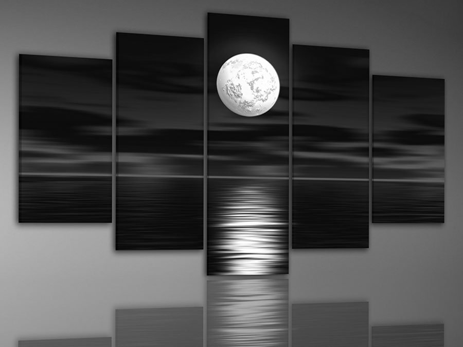 hand-painted-oil-font-b-wall-b-font-art-Sea-full-moon-night-home-font-b 45 Stunning 3D Paintings for Decoration