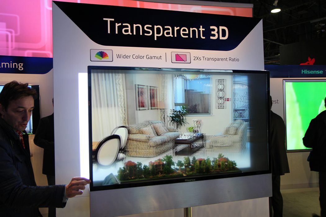 hisense Do You Believe You Can See Through This Transparent TV Screen?