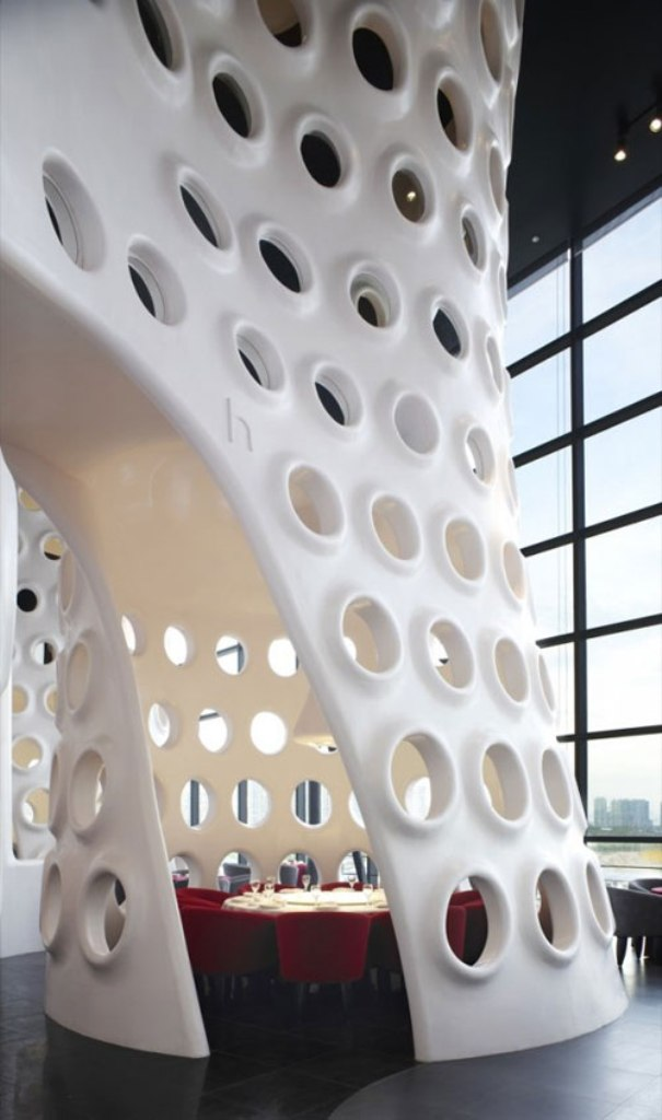 honeycomb-in-shenzhen-china-by-sako-architects 23 Most Awesome Interior Designs for Restaurants