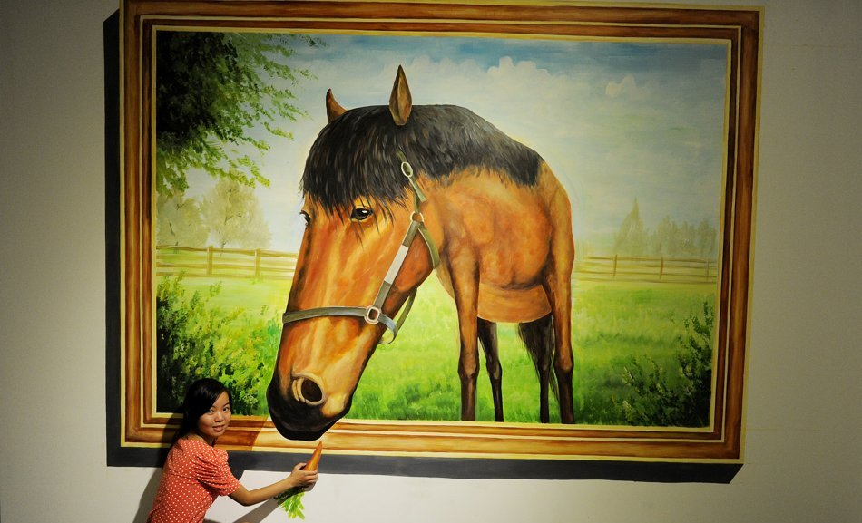 horse 45 Stunning 3D Paintings for Decoration