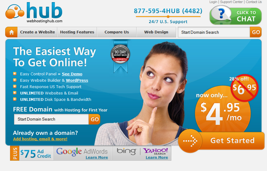 hub Top 5 Web Hosting Companies