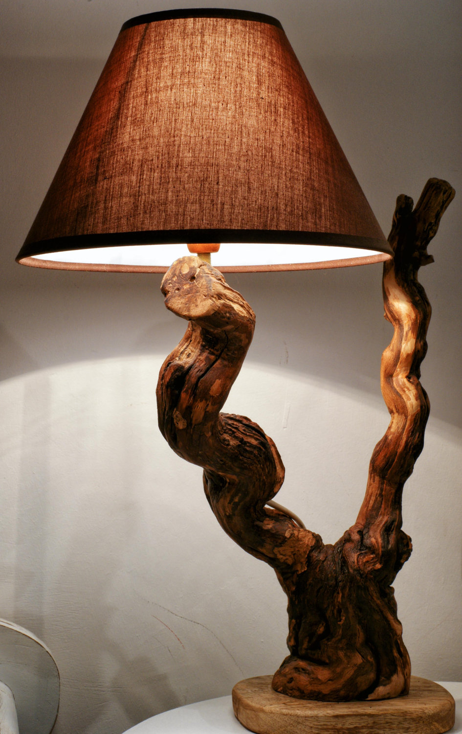 Warm Romantic Bedrooms: Do You Like To Have A Handmade Wooden Lamp?