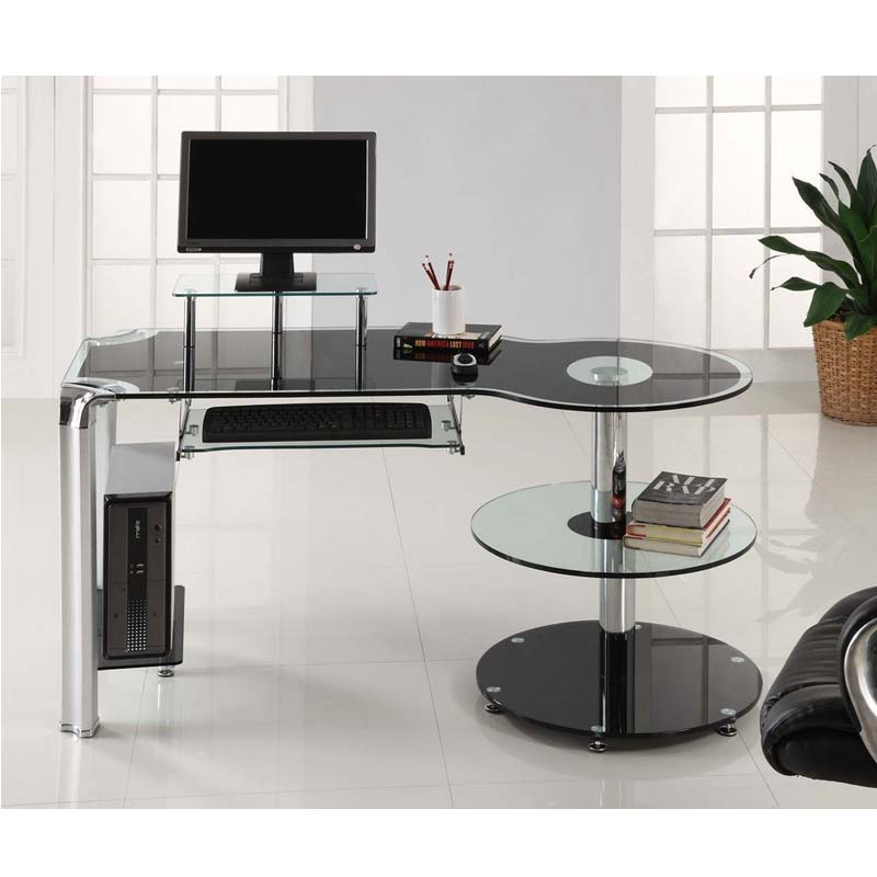 innovex-glass-round-storage-computer-desk-black-and-chrome-dp1025-800x800 Why Glass Computer Desks Are The Trend of This Year?