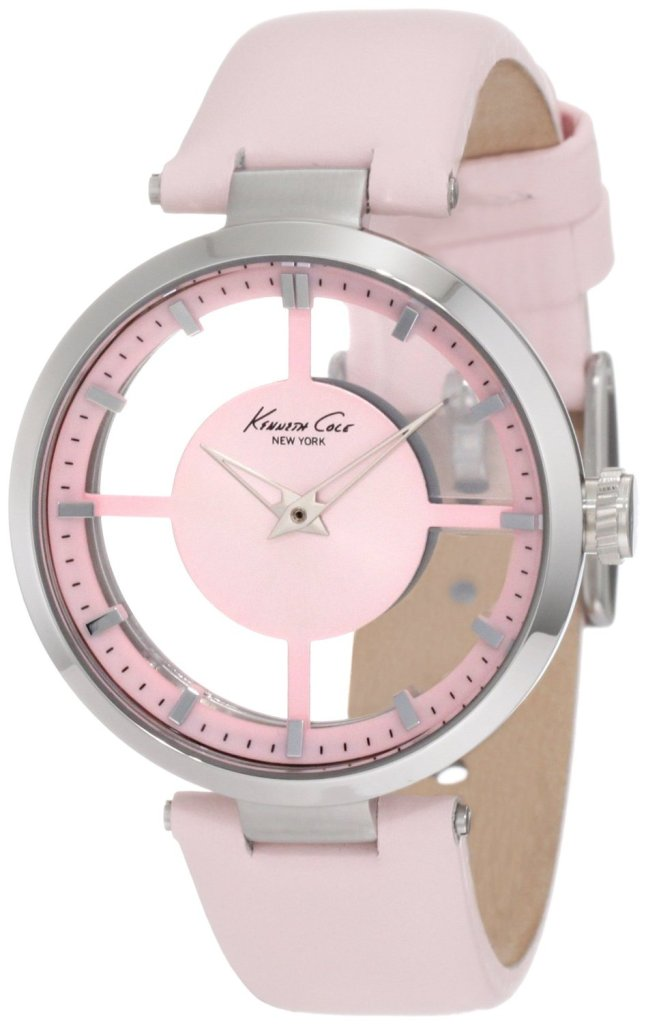 kenneth_cole_transparent_pink_watch The Most 10 Transparent Watches in The World