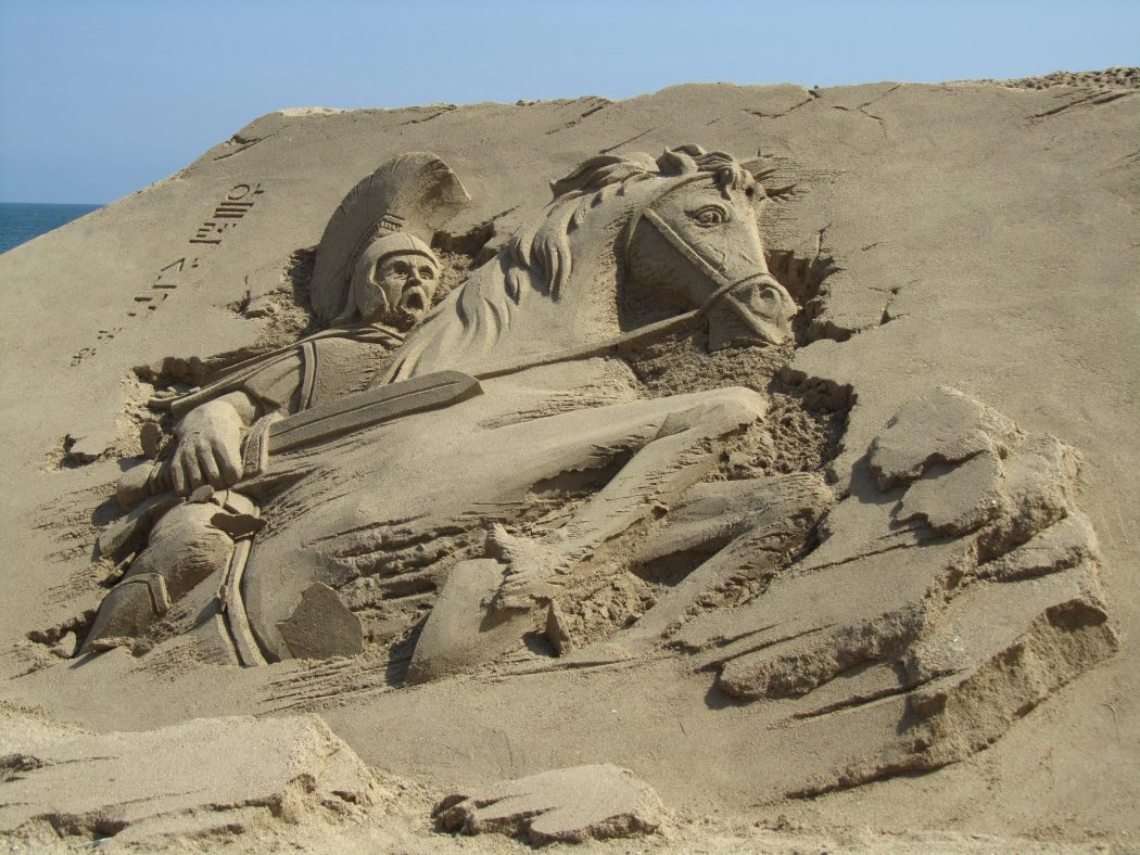 knight-and-his-horse1 The Best 10 Videos and 30 images for Sand Art