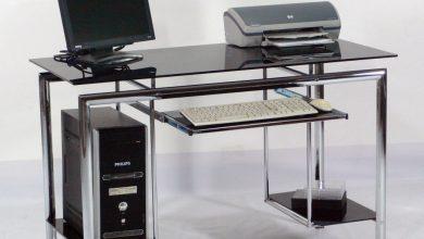 glass computer desks