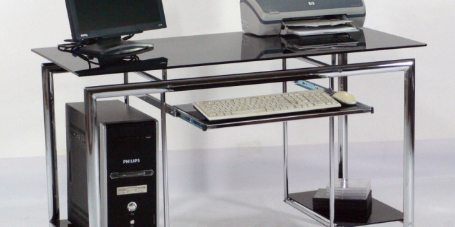 glass computer desks