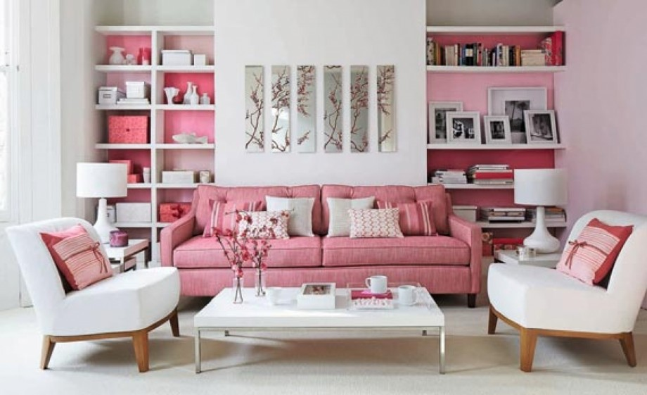 lovely-pink-living-room-decorating-ideas- 15+ Helpful Ideas for Designing Your Living Room [Photos]