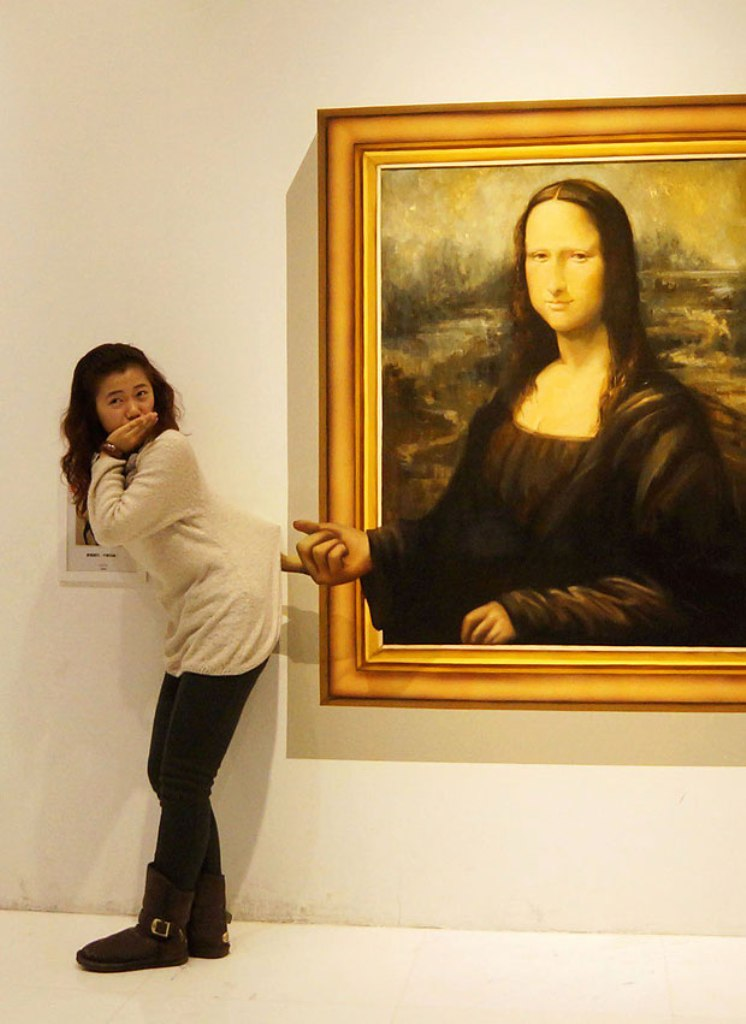 mona-lisa 45 Stunning 3D Paintings for Decoration