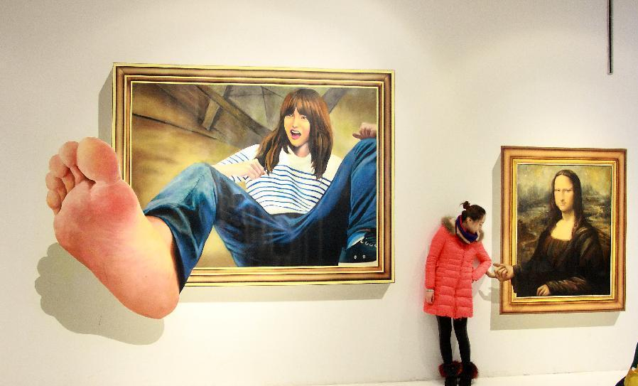 monalisa 45 Stunning 3D Paintings for Decoration