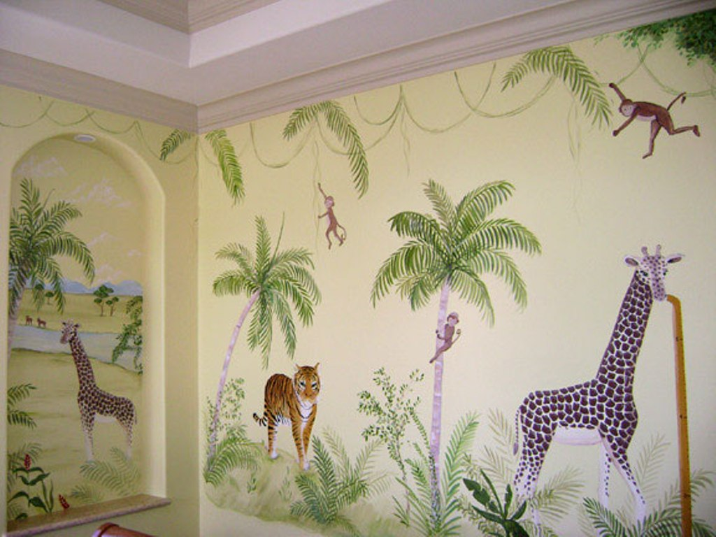 murals-in-palm-beach-county-florida-mural-kids-mural-children-s-wall 45 Stunning 3D Paintings for Decoration
