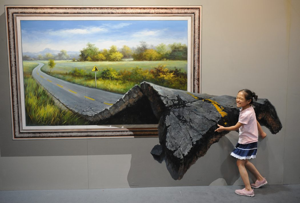 pulling-pavement 45 Stunning 3D Paintings for Decoration