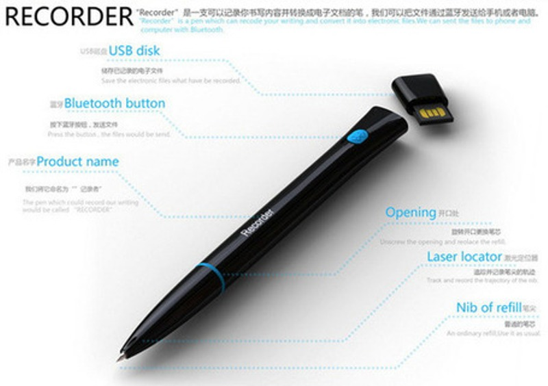 recorder-pen Magic Pens That Converts Written Notes into Electronic Files