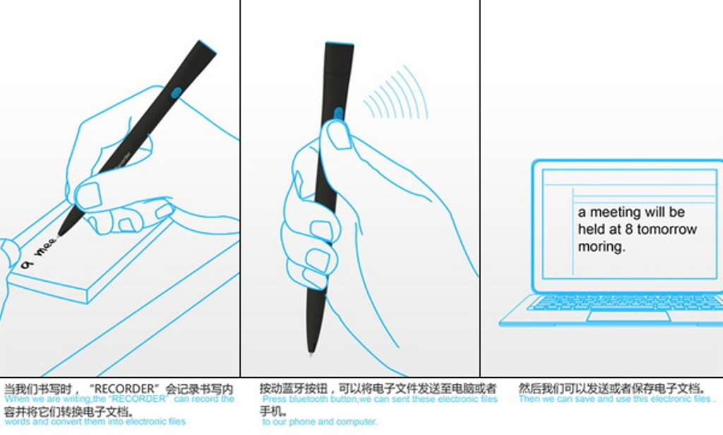 recorder_pen4 Magic Pens That Converts Written Notes into Electronic Files