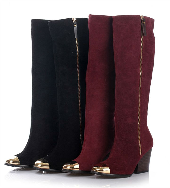 red_suede_knee_high_boots_women_winter Best 10 Ideas for Choosing Winter Gifts