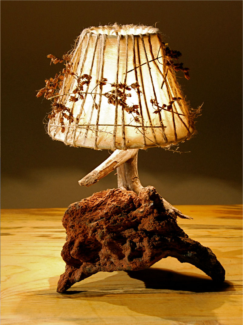 rustic_lamp_hand_made_lampshade Do You Like To Have A handmade Wooden Lamp?