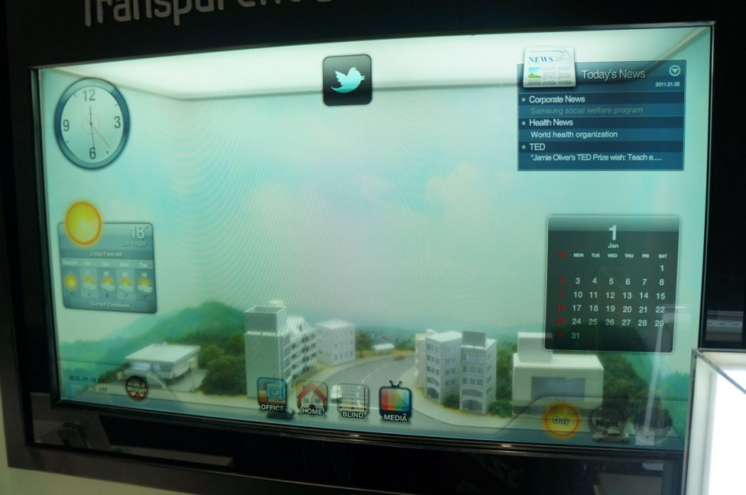 samsung Do You Believe You Can See Through This Transparent TV Screen?