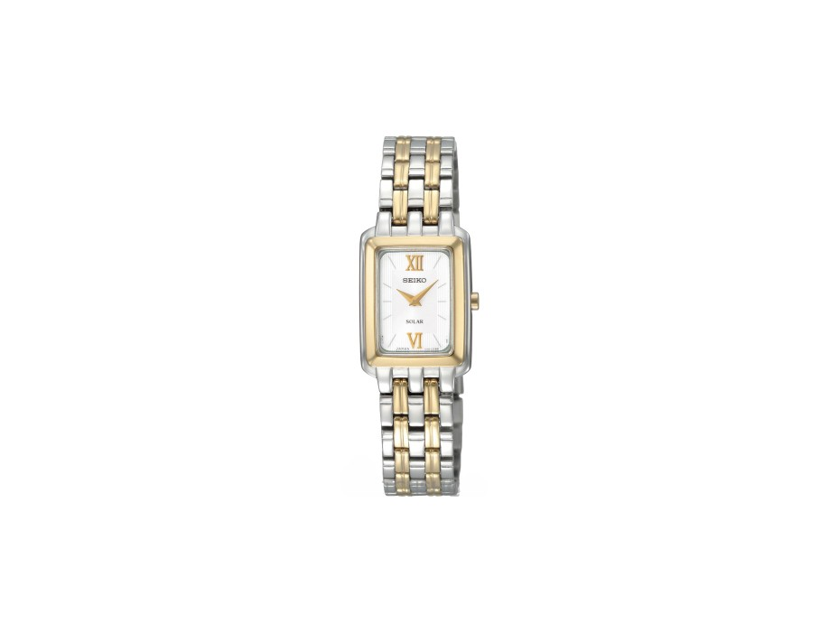 seiko-ladies-solar-two-tone-stainless-steel-watch-sup010p1 Most 35 Stylish Solar Powered Timepieces