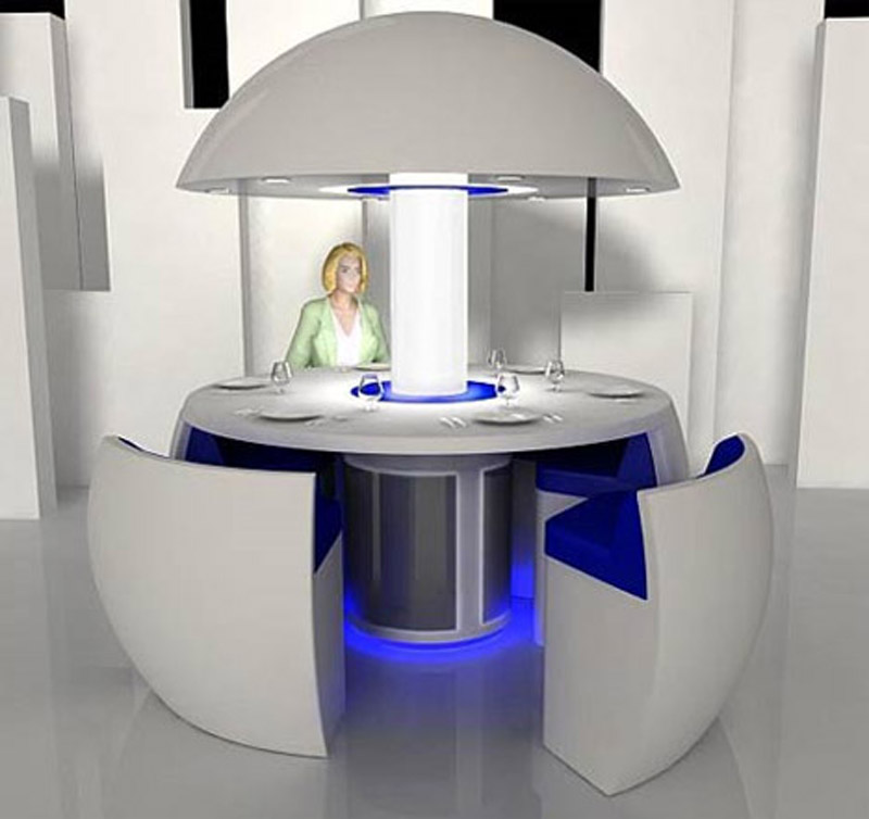 sharp-futuristic-superb-dining-room-table 45 Marvelous Images for Futuristic Furniture