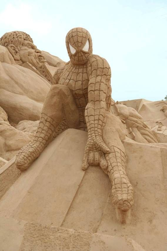 spider-man The Best 10 Videos and 30 images for Sand Art