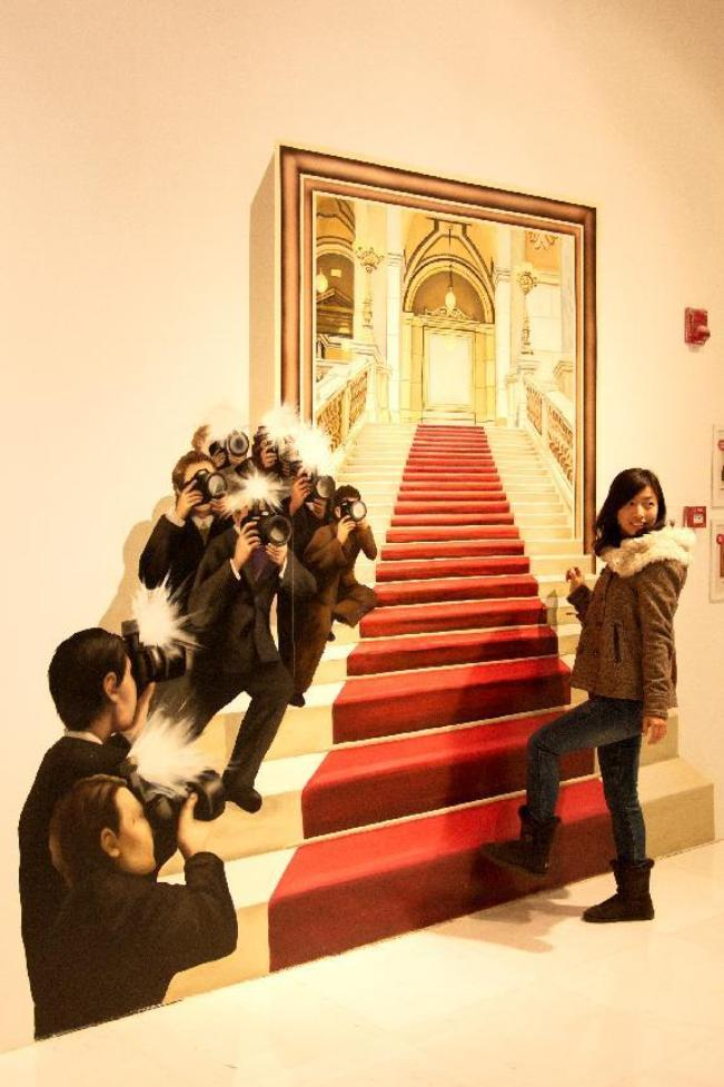 stairs 45 Stunning 3D Paintings for Decoration