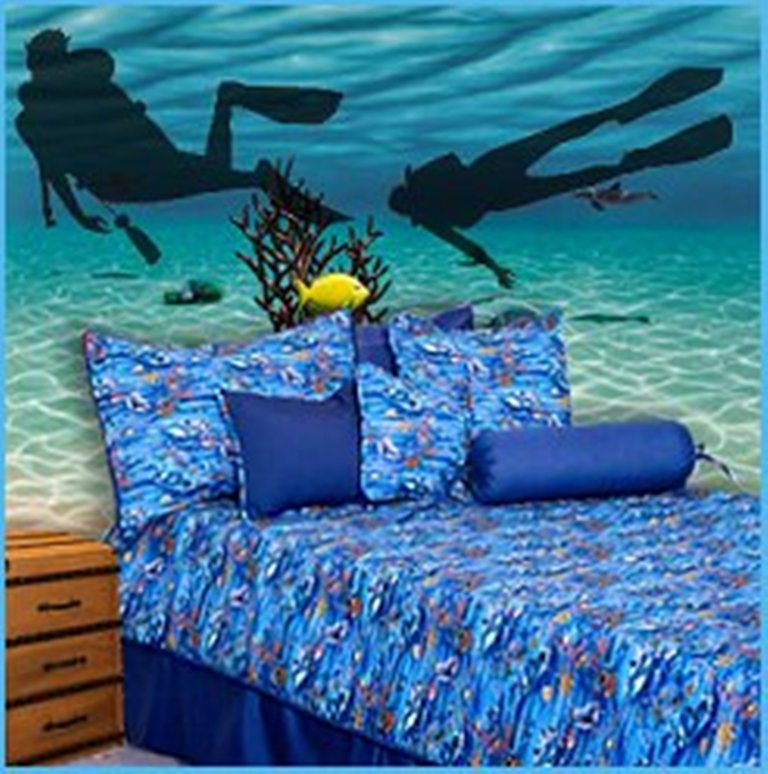 themed-bedrooms-underwater-bathroom-decorating-ideas-bedroom-theme 45 Stunning 3D Paintings for Decoration