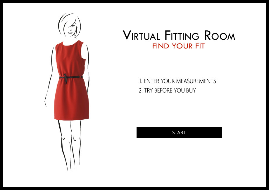 Online trial room for clothes