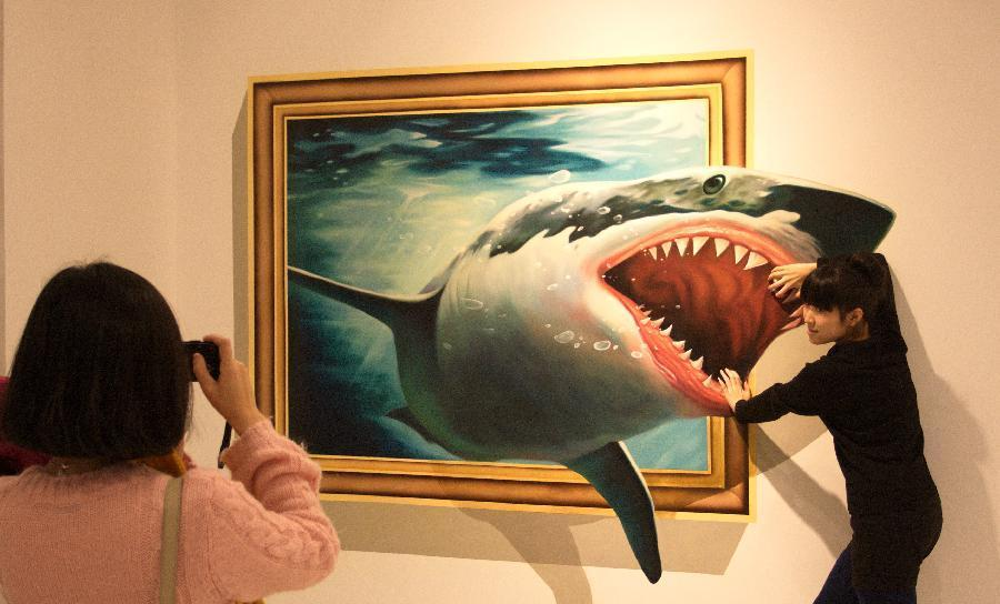 whale. 45 Stunning 3D Paintings for Decoration
