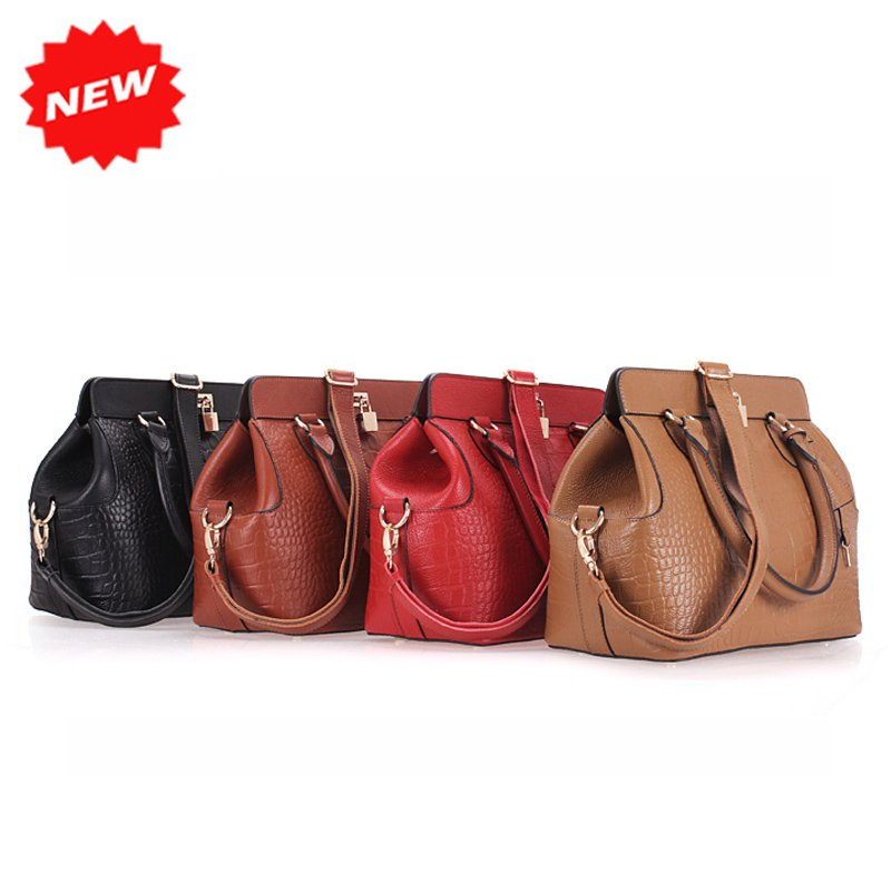 2012-New-Winter-Ladies-Handbag-Crocodile-Genuine-Leather-Women-Tote-Messenger-Bag-With-Anti-Theft-Lock 20+ Most Stylish Celebrity Bags