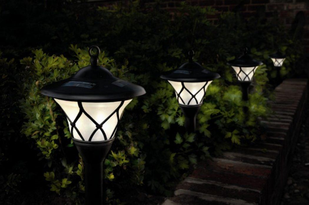 Уличные светильники для дома своими руками фото