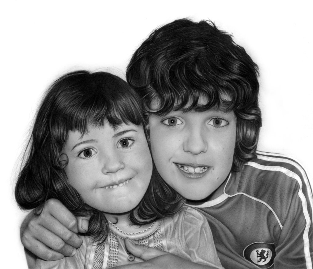 A_Brother__s_Love Stunningly And Incredibly Realistic Pencil Portraits