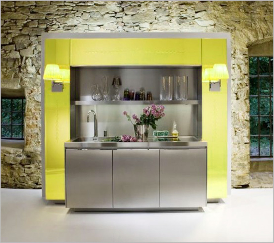 Amazing-Kitchen-Design-Ideas-super-compact-kitchen Top 25 Futuristic Kitchen Designs