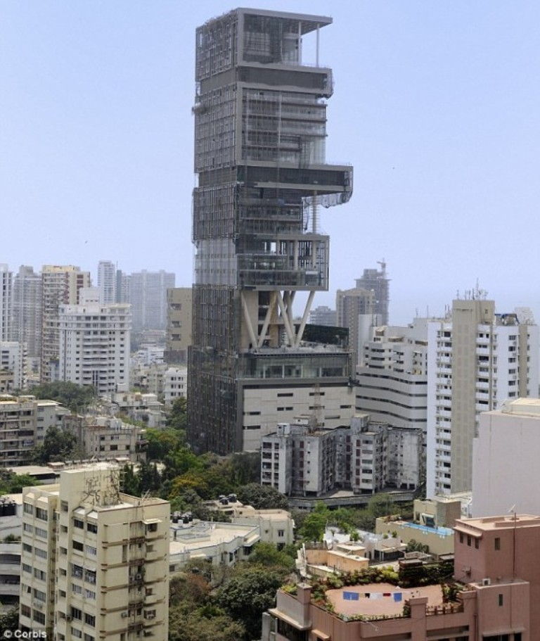Ambani-Home Top 10 Most Expensive Houses in The World