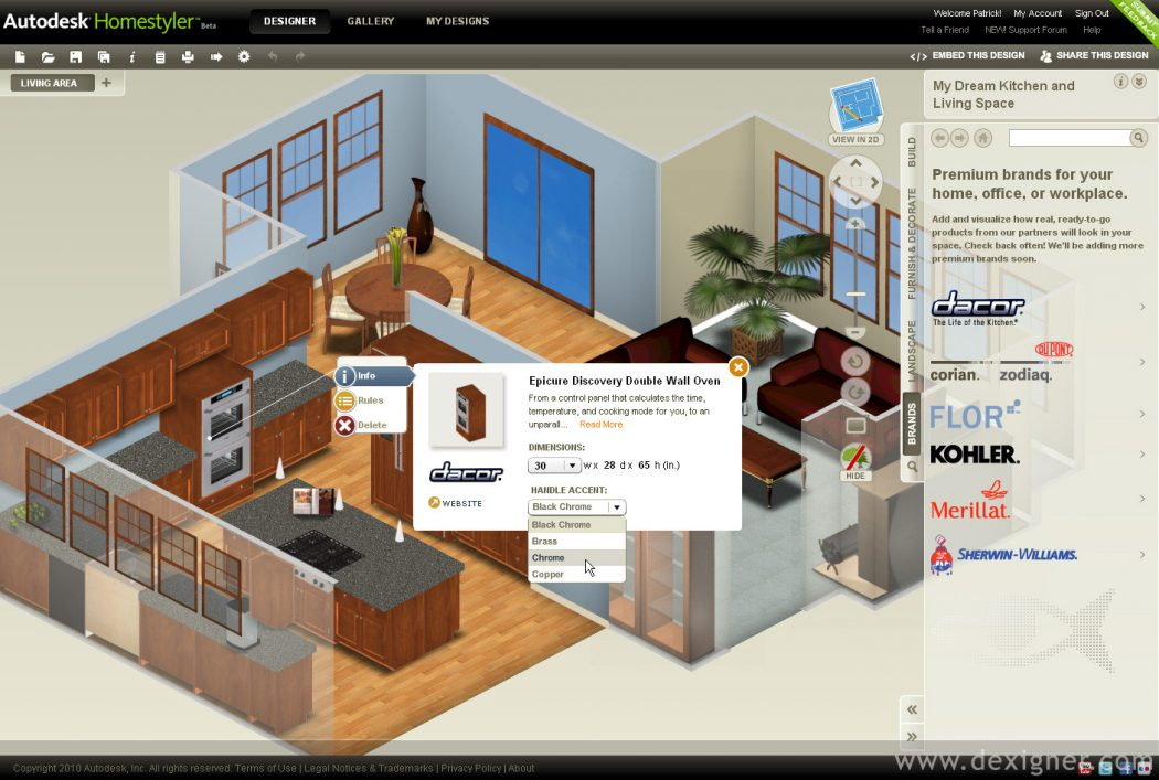 Autodesk_Homestyler Top 15 Virtual Room software tools and Programs