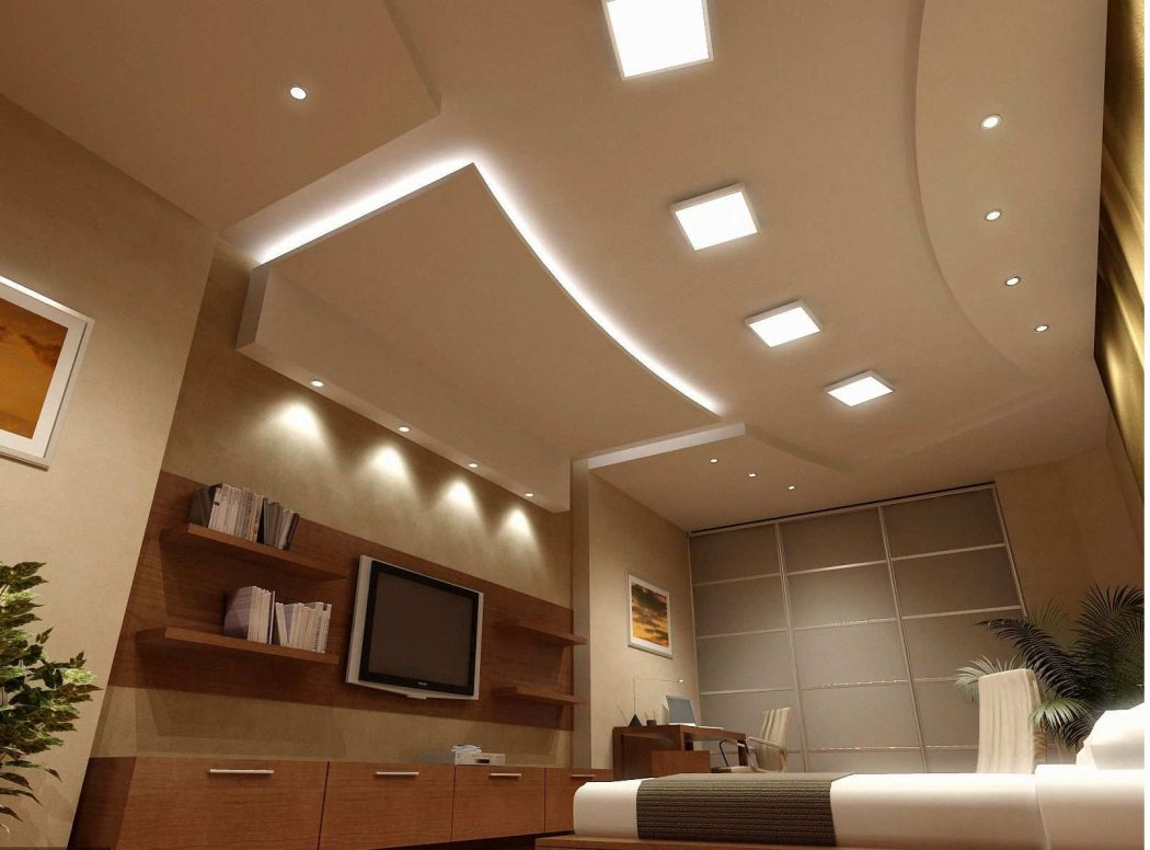 Awesome-Modern-Living-Room-With-Beautiful-Ceiling-Lighting Creative 10 Ideas for Residential Lighting