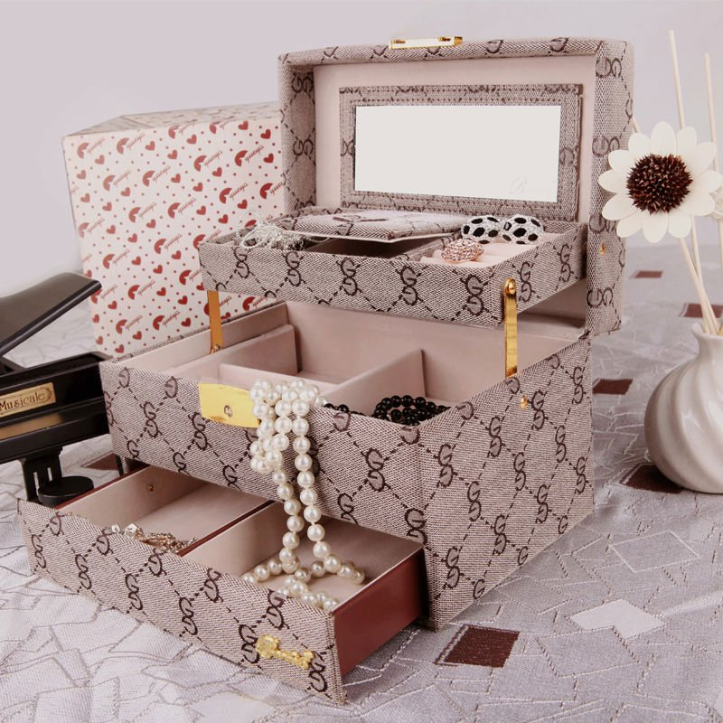 BARBELO-3-layer-jewelry-storage-case-travel-jewelry-box-with-mirror Best 20 giveaways ideas for birthdays