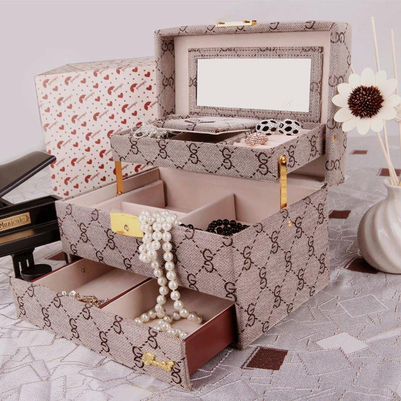 BARBELO-3-layer-jewelry-storage-case-travel-jewelry-box-with-mirror Best 20 giveaways ideas for birthdays