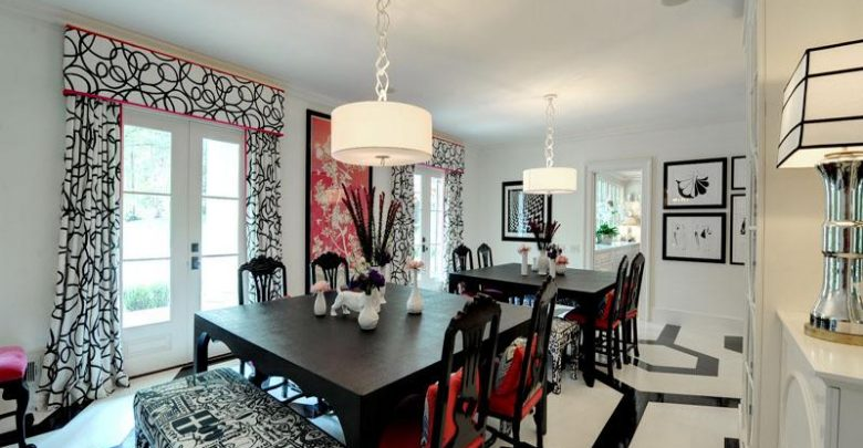Photo of 25 Elegant Black And White Dining Room Designs