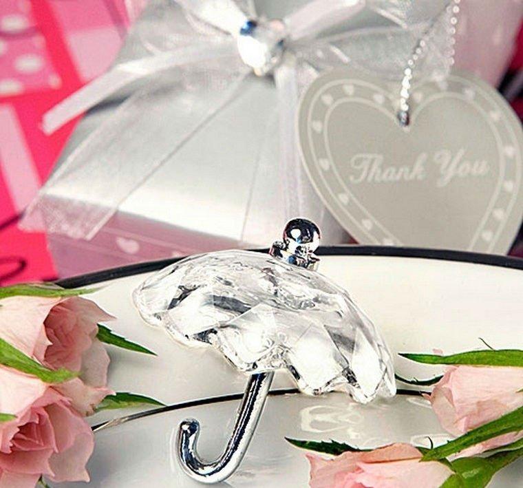 Crystal-Effect-Umbrella-Favors-50pcs-lot-Wedding-Favor-Wedding-Gift-Wedding-Souvenir 20 unique wedding giveaways ideas