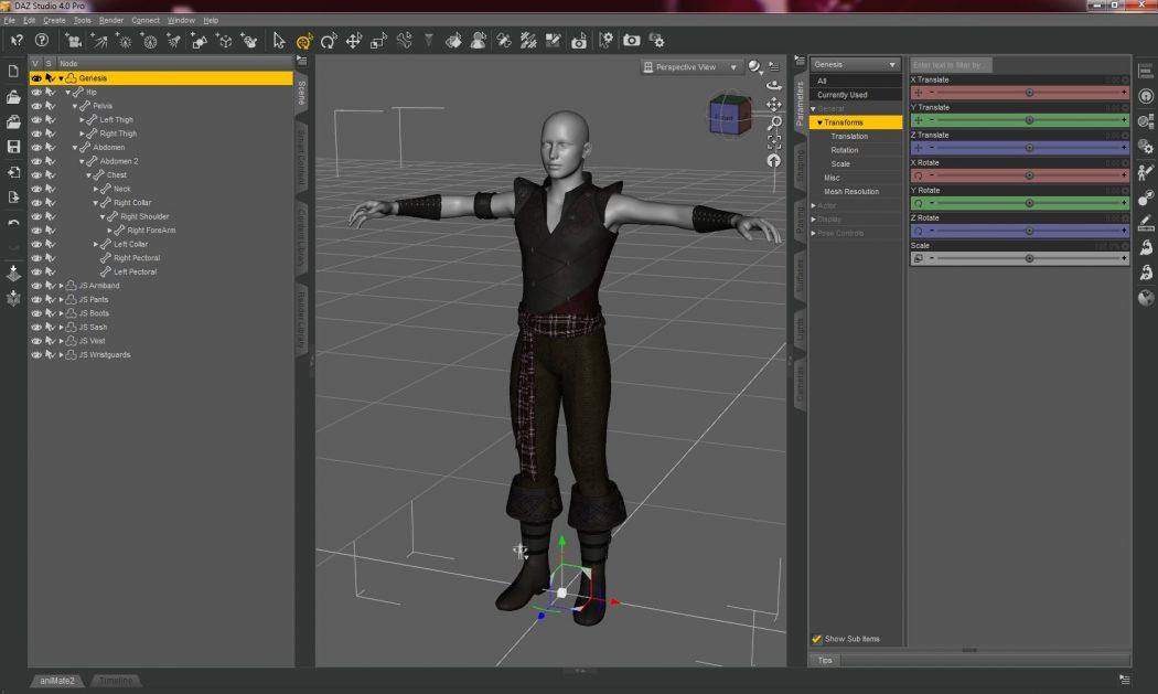 DAZ-Studio-4-Pro-Interface Top 15 3D Design Software